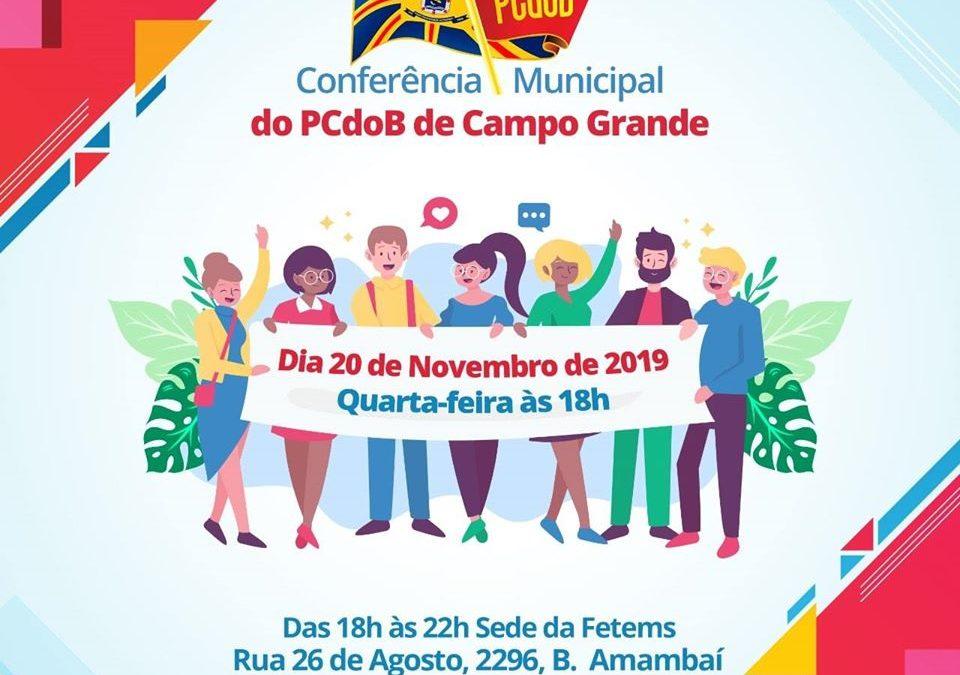 Comitê do PCdoB de Campo Grande-MS convoca Conferência Municipal
